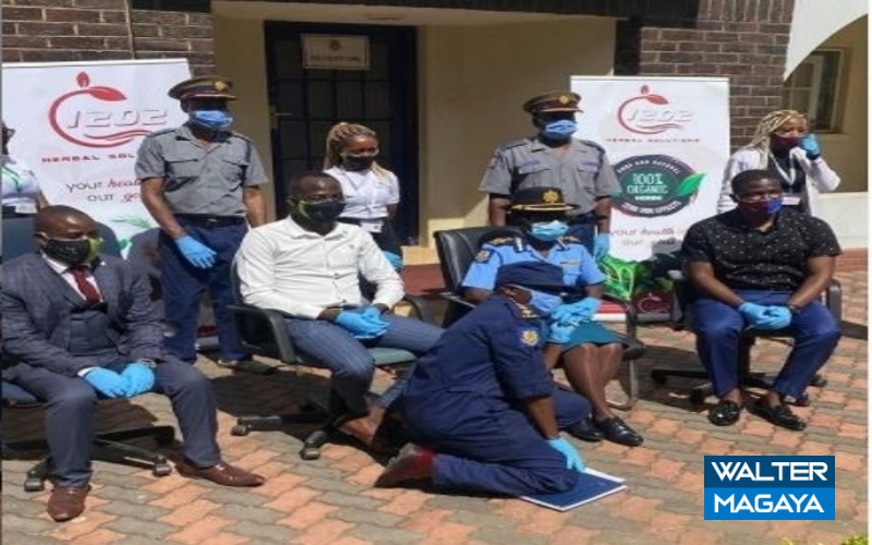 Good Samaritan 1202 Herbal Boss Mambo Ndini Donates Masks To ZRP